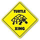 TURTLE CROSSING Sign new xing turtles tortoise gift