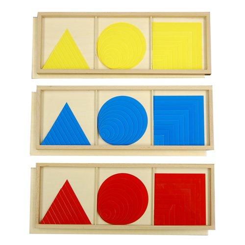 Montessori Circles, Squares, and Triangles