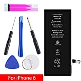 GOGO Roadless iPhone 6 Battery Replacement Kit, Complete Tool Kit & Adhesive High