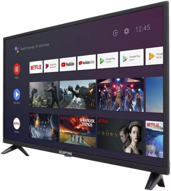 Sceptre Android TV A322BV-SRC 32 Pulgadas Smart LED HD TV Google Assistant Chromecast Bluetooth Remote, máquina Negra 2020: Amazon.es: Electrónica