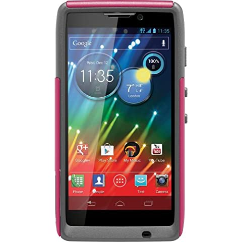 OtterBox Commuter Series Case for Motorola RAZR HD - Retail Packaging - Pink/Gray (Droid Razr Otterbox Case)
