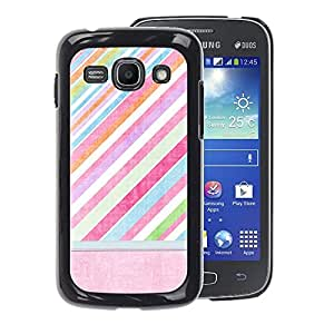 A-type Arte & diseño plástico duro Fundas Cover Cubre Hard Case Cover para Samsung Galaxy Ace 3 (Pink Red Stripes Pattern Pastel)
