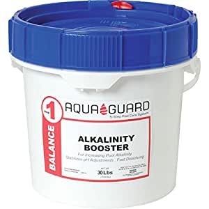 2 pk aquaguard 30 pound lb alkalinity booster buffers pool water for better ph Swimming pool high alkalinity