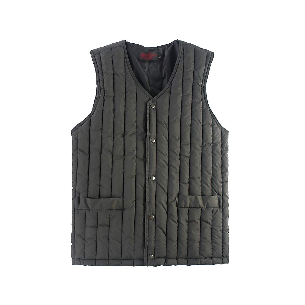 Mens Vest Warmer Plain Color Sleeveless with Zip XFentech Man Waistcoat