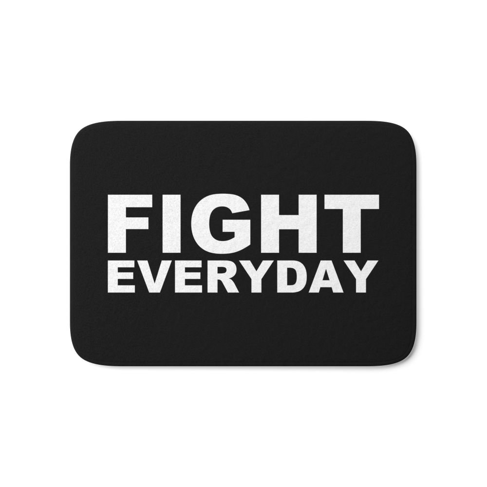 Society6 Fight Everyday Bath Mat 17'' x 24''