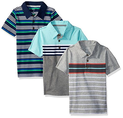 Simple Joys by Carter's Baby Boys' Toddler 3-Pack Short Sleeve Polo, Stripes, - Shirt 4t