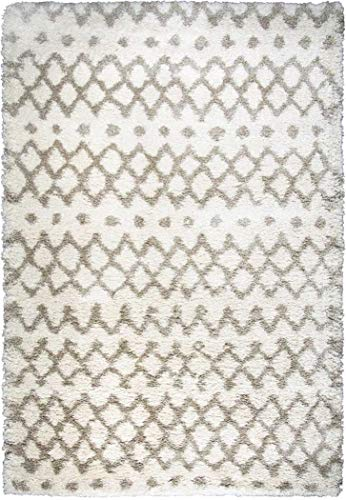 - Rizzy Home Adana Collection Polypropylene Cream/Beige Geometric Area Rug 7'10