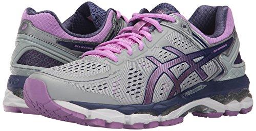 Asics Women S Gel Kayano  Running Shoe Silver Violet Deep Cobalt