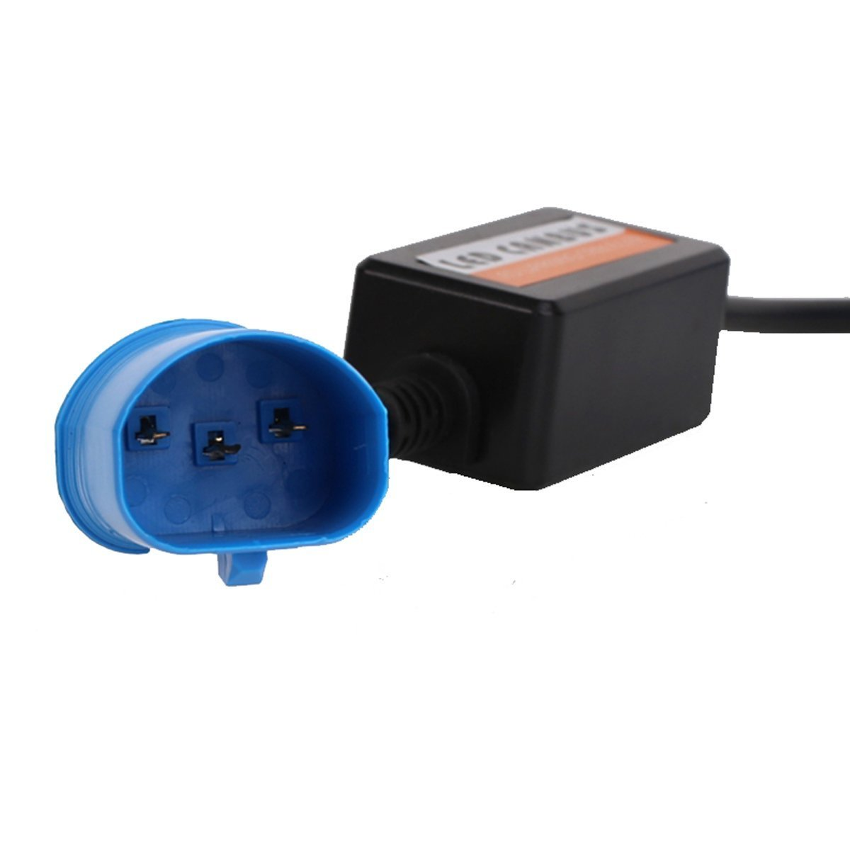 Black, 2pcs Lightronic H8//H11//H9//H16 led canbus Error Free Decoder Canceller Capacitor Anti-Flicker Resistor Harness for LED Headlight