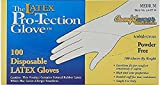 Disposable Latex Gloves, Powder Free, Size: Medium, 500 Gloves (5 Boxes of 100 Gloves)
