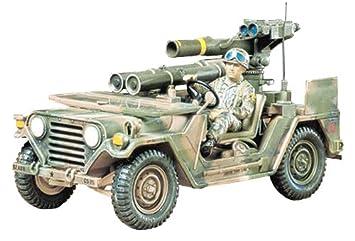 Tamiya 300035125 - Maqueta de vehículo Militar M151A2 Ford MUTT con Lanzador de misiles (Escala 1:35)