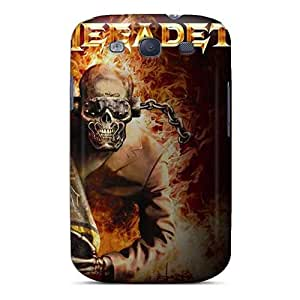 Samsung Galaxy S3 YQA7330eIYA Allow Personal Design Vivid Megadeth Band Skin Shock Absorption Hard Phone Covers -MansourMurray