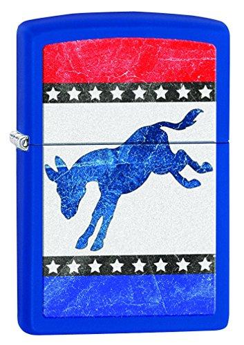 Zippo Democratic Donkey Pocket Lighter, Royal Blue Matte