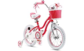 RoyalBaby Girls Kids Bike Stargirl 12 14 16 18 Inch Bicycle for 2-9 Years Old Child's Cycle with Basket Training Wheels or Kickstand Girls Bike Pink Blue