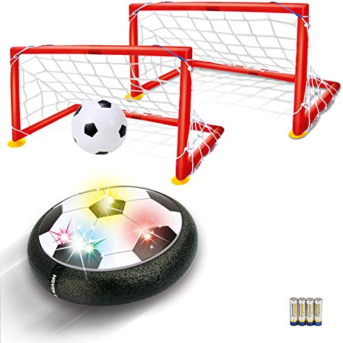 Kids Toys Hover Soccer Ball - LED Air Power Soccer Set with 2 Goals and an Inflatable Ball, Indoor Outdoor Sport Ball Training Games, Soccer Toys for 2 3 4 5 6 7 8- 12 Year Old Boy Girl Best Gifts]()