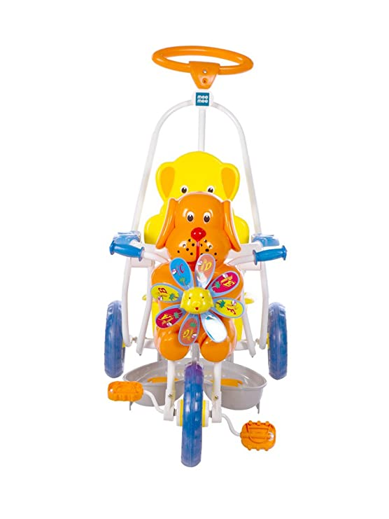 Mee Mee Baby Tricycle with Rocking Function 2 in 1 and Easy-to-Push Handle (Orange)