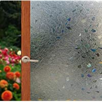 Arthome Window Film 3D Privacy Film No Glue Self Static Cling Anti UV Removable for Home Living Room Bedroom Bathroom…