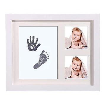 TYUE Bebé Handprint Kit y Huella Marco de Fotos para recién Nacidos ...