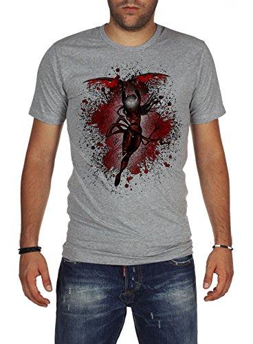 Palalula Men's Super Heroes Elektra T-Shirt XL Grey ()