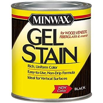 Minwax 260924444 Interior Wood Gel Stain, 1/2 pint, Black