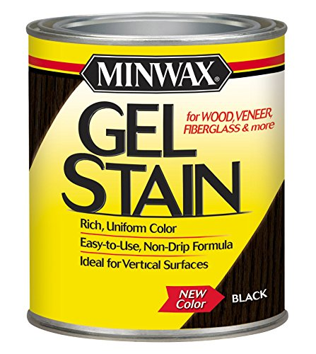 Minwax 260924444 Interior Wood Gel Stain, 1/2 pint, Black (Gel Stain Fiberglass)