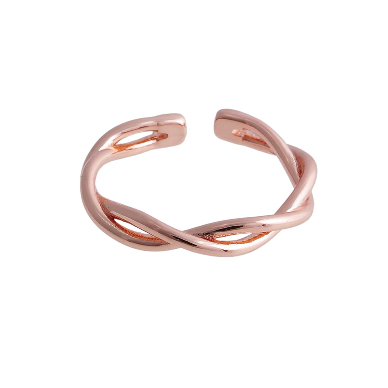 MANZHEN Minimalist Twist Infinity Knot Open Finger Ring