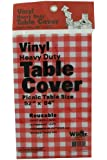 Vinyl Heavy Duty Table Cover 52x84 (Picnic Table Size) (Reusable)