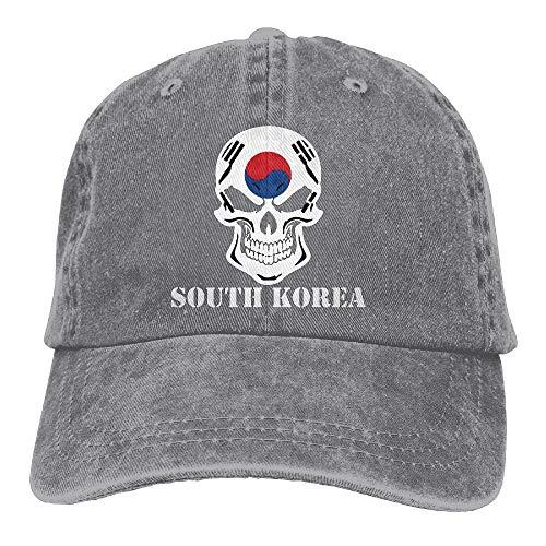 Wu Wen Jin Korean Flag Skull South Korea Trucker's Cap Baseball Cap Denim Dad Hat