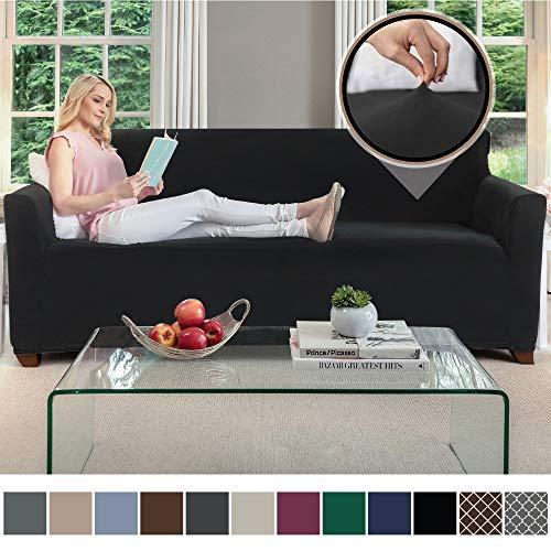 Gorilla Grip Original Velvet Fitted 1 Piece Sofa Slipcover, Stretch Up to 70
