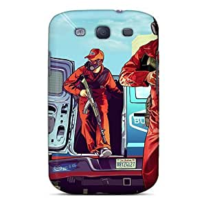 Snap-on Grand Theft Auto Gta V Case Cover Skin Compatible With Galaxy S3
