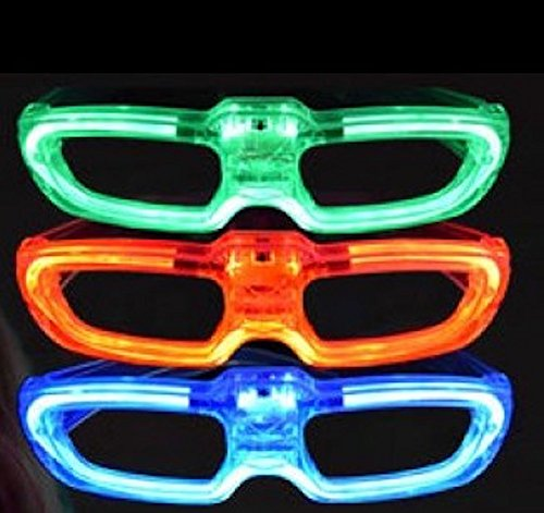 Light Up Flashing Sound Activated Retro Style Neon Glasses - Tons of fun for that party!