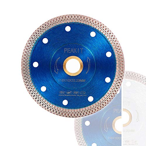 Peakit Tile Cutter Blade 4.5 Inch Porcelain Diamond Blade Ceramic Cutting Disc Wheel for Angle Grinder, Reversible Color (Best Ceramic Tile Cutter)
