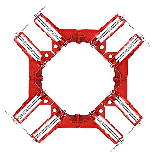 Set of 4 Right Angle Clamp, 90 Degrees 100mm Corner Clamp, Picture Frame Holder, Glass Holder, DIY Woodworking Holder ()