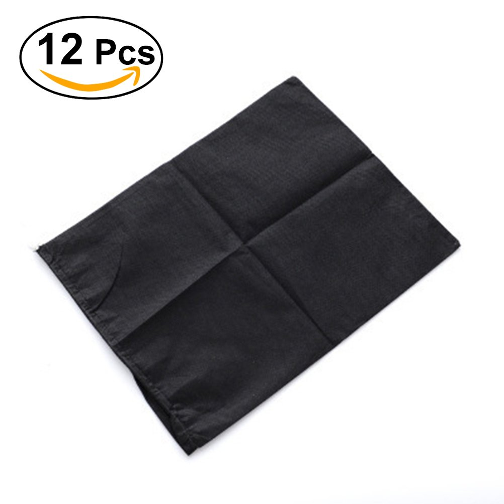 Black Tinksky 12pcs Travel Shoes Bags Non-woven Drawstring Carrying Storage Bag Dustproof Organizer