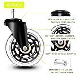 Office Chair Caster Wheels 10mm Stem, Fit IKEA