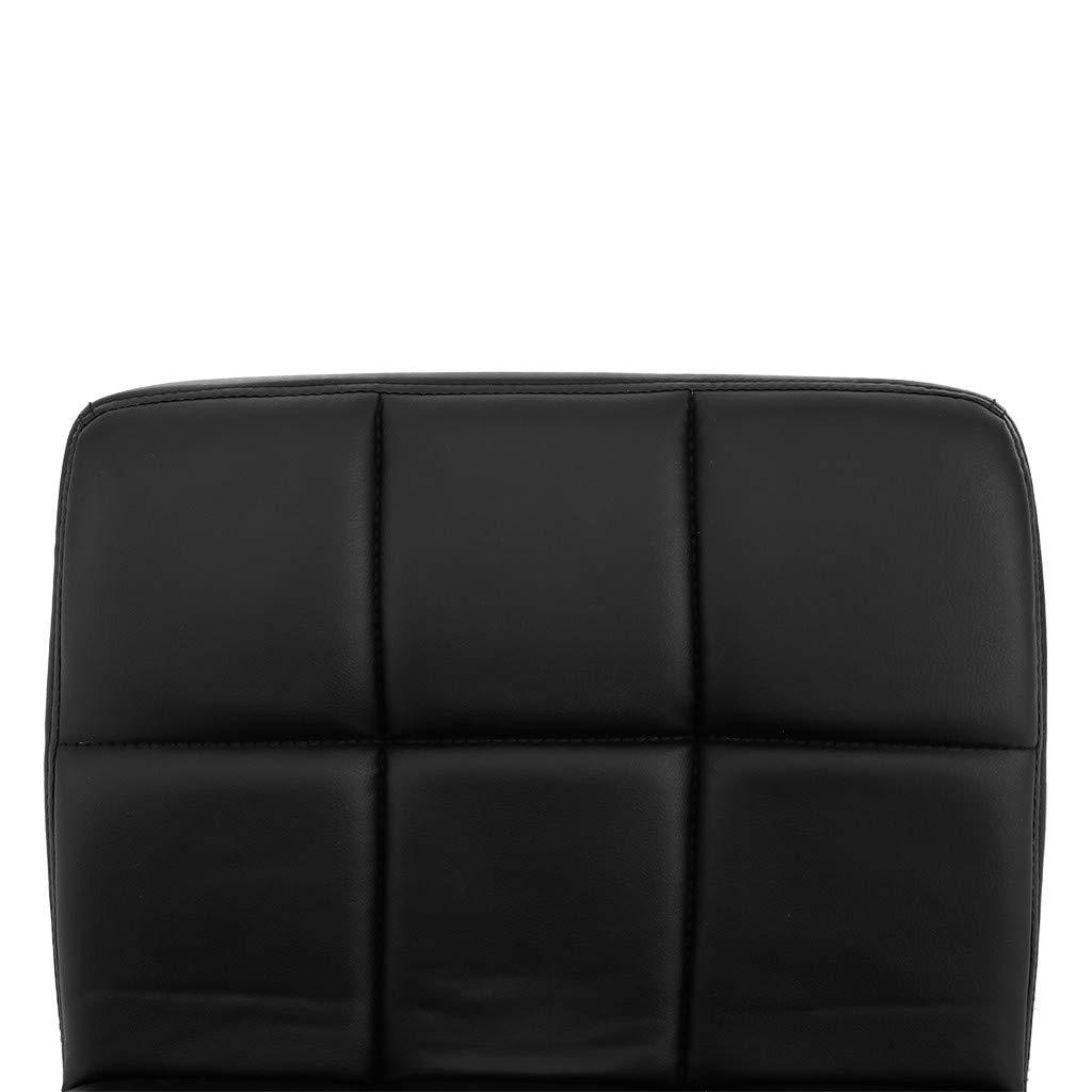 TADAMI Adjustable Bar Stools, Set of 2 Leather Bar Stools Counter Height Swivel Bar Stools Chair (Black) by TADAMI (Image #7)