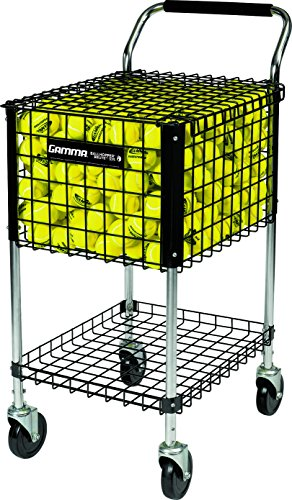 Gamma Sports Premium Tennis Teaching and Travel Carts – Unique Sports Equipment, Large Ball Capacity, Heavy Duty Designs, Ideal Training Court Accessories – DiZiSports Store