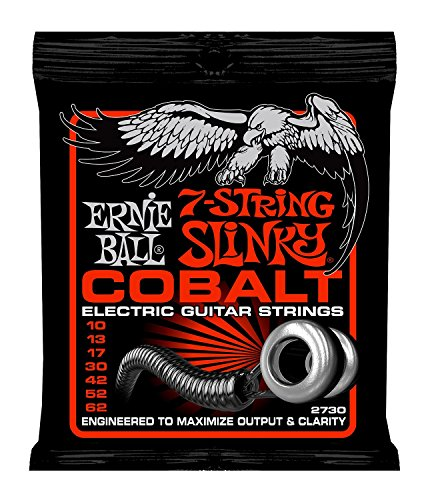 Ernie Ball Cobalt 7-String Skinny Top Heavy Bottom Slinky Set, .010 - ()