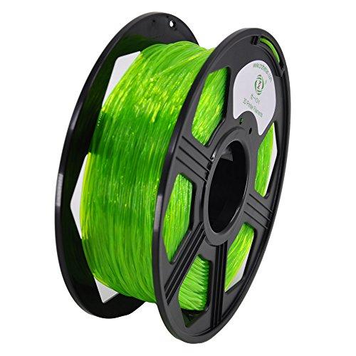 YOYI 1.75MM Flexible TPU Filament 1.75mm TPU 3D Printer Filament, Diameter Tolerance +/- 0.03 mm, 0.8 KG Spool, 1.75 mm (Green) by YOYI