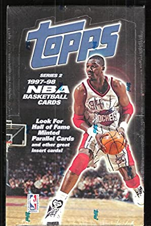 1997 98 Topps Series 2 Basketball Factory Sealed Jumbo Box