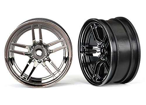 Traxxas 1.9 8371 Wheels 1.9 split-spoke split-spoke (black B0722VCPFN chrome) (front) (2) B0722VCPFN, フクヤマチョウ:429ca783 --- mail.tastykhabar.com