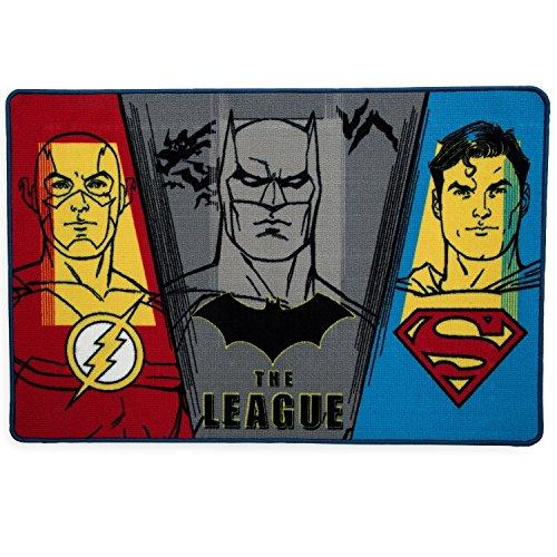Delta Children Soft Area Rug with Non Slip Backing, DC Comics Justice League