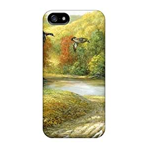 Forest Mural Flip Case With Fashion Design Case For HTC One M7 Cover