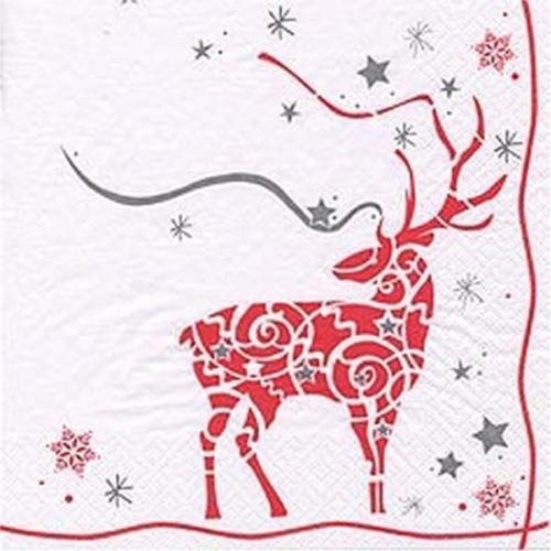 Ti-Flair Magical Stag Christmas Party Paper Lunch Napkins (20 Pack)