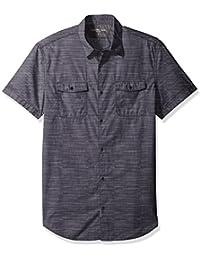 Calvin Klein Jeans Men's Short Sleeve Cross Hatch Slub...