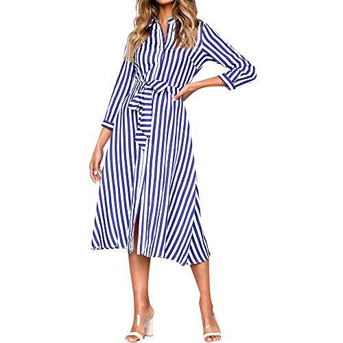 Fudule Dress Ladies Party Blue Women Beach Loose Dresses Casual Casual Party Evening Women Dress Dresses Women's rwq4TrI