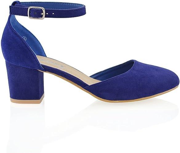 Day Ladies medium Block Heel Court shoe for Office Casual Wear