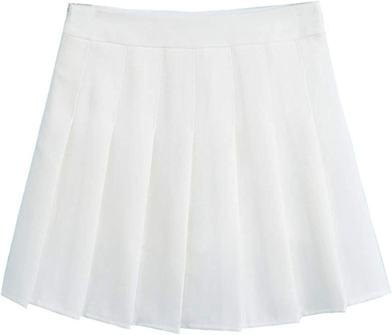ZHANCHTONG Women's High Waist A-Line Pleated Mini Skirt Short Tennis Skirt at  Women's Clothing store