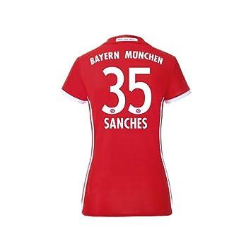 adidas FC Bayern München - Camiseta de fútbol Home 2016 2017 Mujeres Sanches 35: Amazon.es: Deportes y aire libre