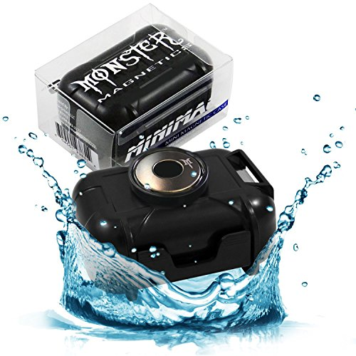 MiniMag Waterproof Strong Magnetic Stash Box - All Weather Hide a Key, Magnet Mount Locker Box, Geocaching Container, Under Car GPS Tracker Holder Case - Easily Hide Your Stuff Anywhere